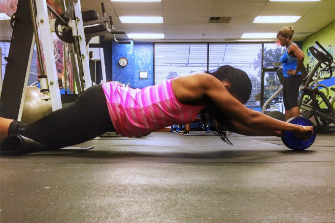 Ab wheel exercises for the core