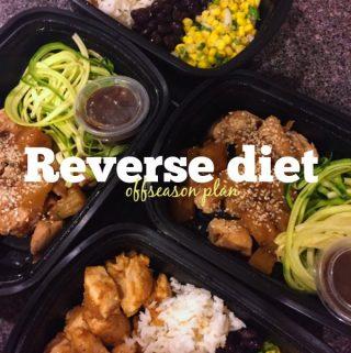 Let the reverse diet begin