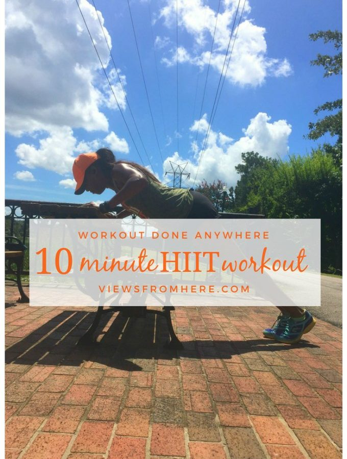 10 minute HIIT workout you can do anywhere. No equipment needed.