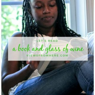 A book and a glass of wine