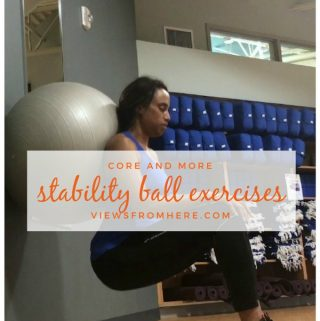 Stability ball exercises for your entire body. Work more than your core.