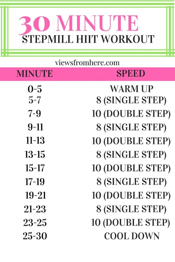 30 minute STEPMILL or stair master workout
