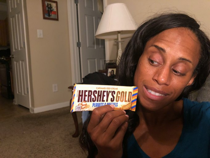 hershey's gold bar is a great sugar rush that all should try