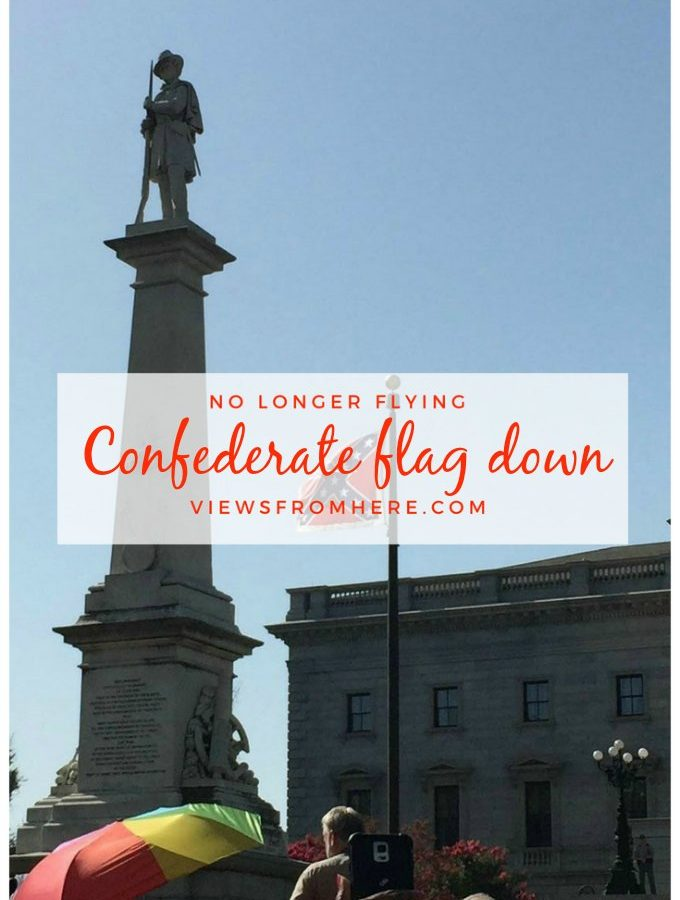 Confederate flag flying at the Statehouse