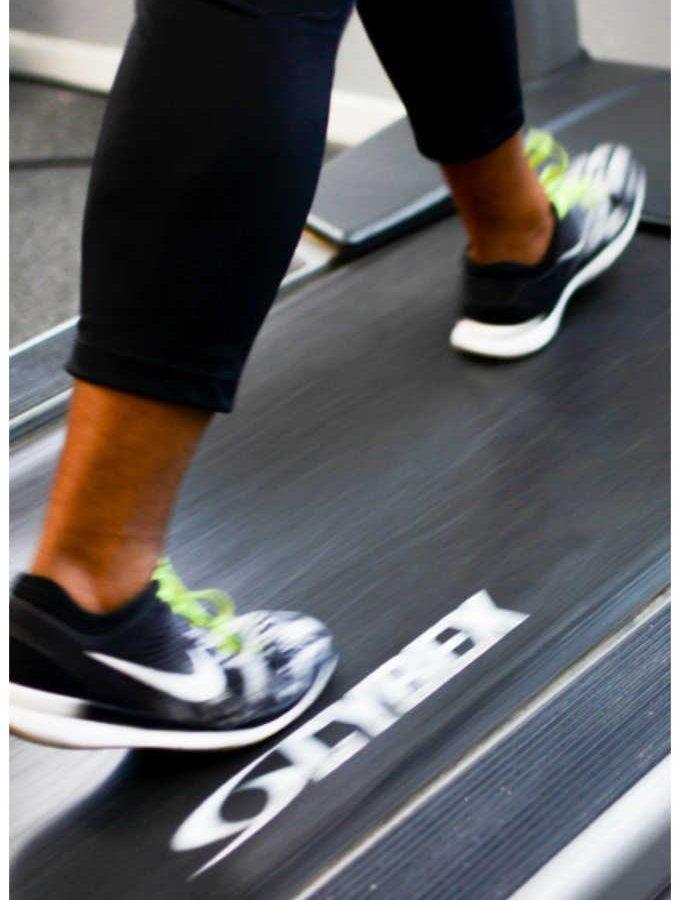 treadmill running HIIT style