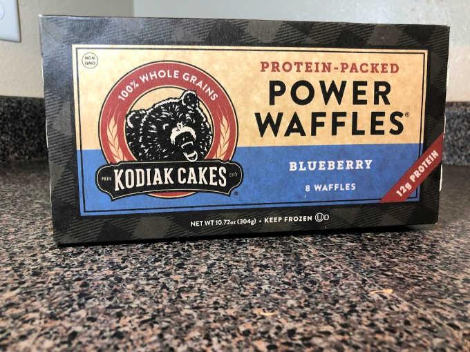 Kodiak cakes blueberry waffles