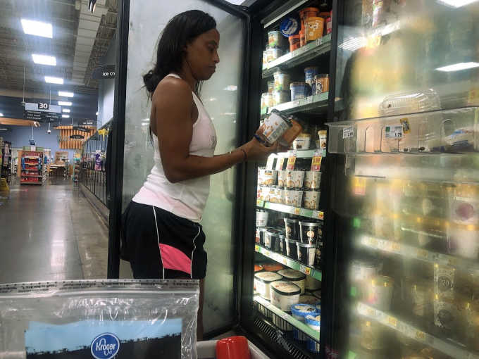 searching for ice cream alternative at Kroger