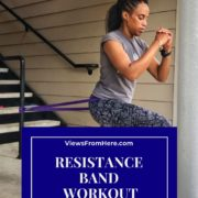 woman doing exercises with resistance bands for stronger booty