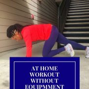 woman doing mountain climber exercise at home