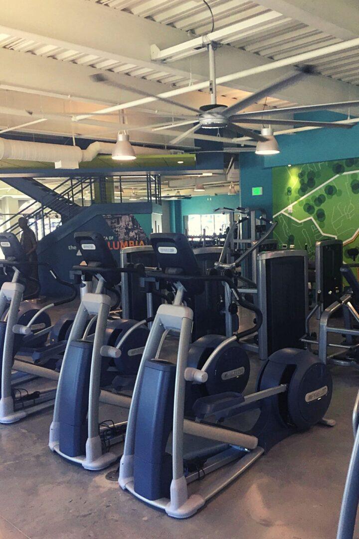 Columbia YMCA gym and cardio equipment