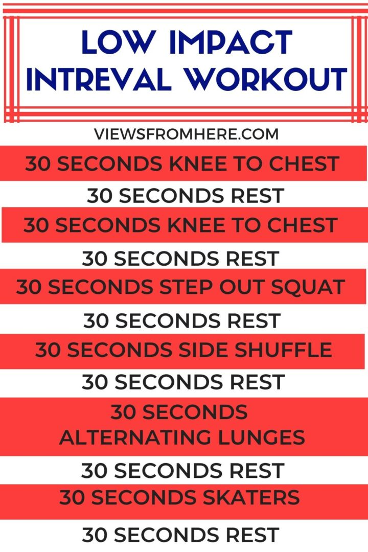 low impact interval workout you can do anywhere